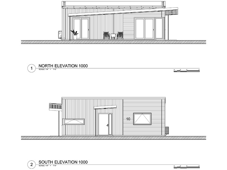1000-sq-ft - Concrete Home - Elevation