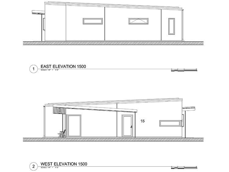 Concrete 1500 sq ft - Concrete Home - Elevation