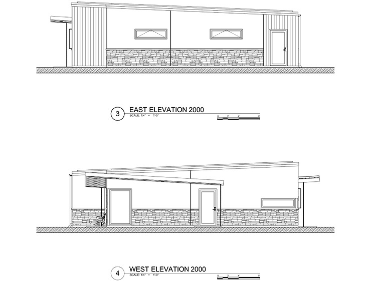 2000 sq ft - Concrete Home - Elevation