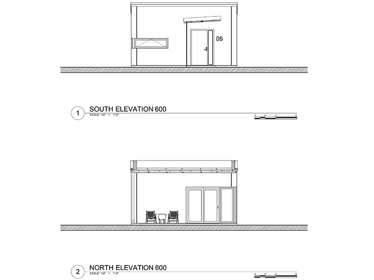 600 sq ft - Concrete Home - Elevation