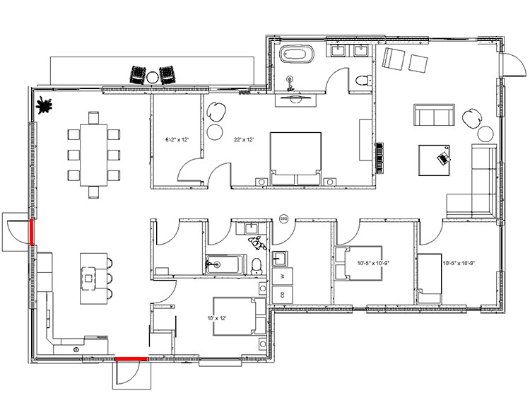 2000 sq ft - Concrete Home - Floorplan